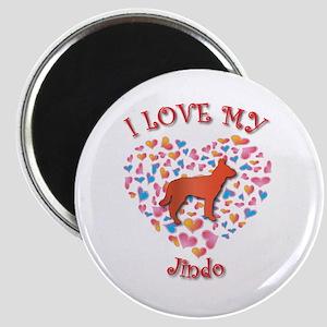 Love Jindo Magnet