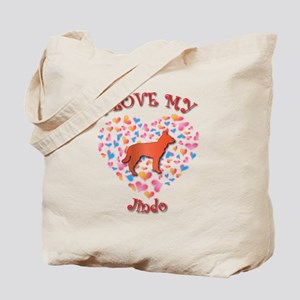 Love Jindo Tote Bag