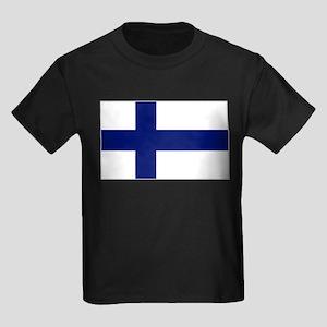 Finland Flag Kids Dark T-Shirt