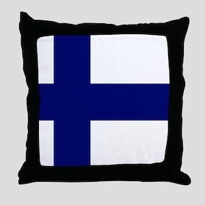Finland Flag Throw Pillow