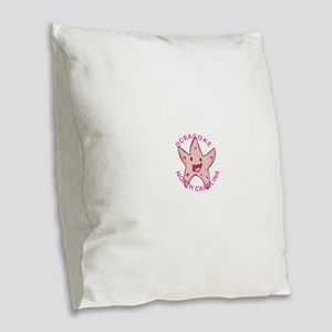 North Carolina - Ocracoke Burlap Throw Pillow