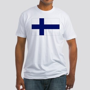 Finland Flag Fitted T-Shirt
