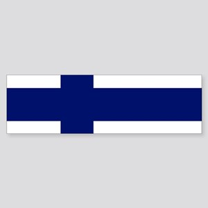 Finland Flag Bumper Sticker