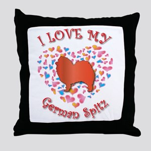 Love Spitz Throw Pillow