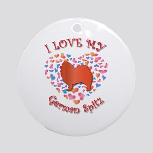 Love Spitz Ornament (Round)