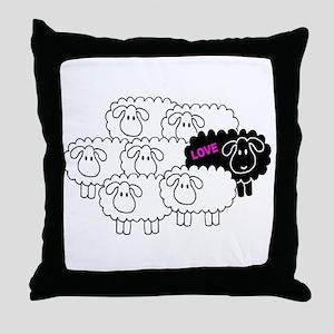 Black Sheep (Love)   Throw Pillow