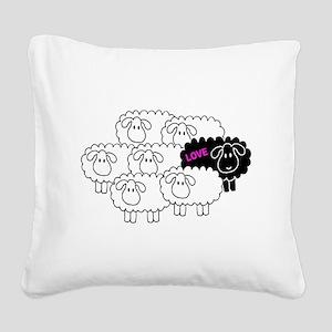Black Sheep (Love) | Square Canvas Pillow
