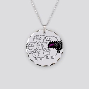 Black Sheep (Love) | Necklace Circle Charm