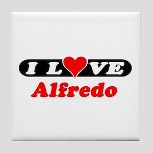 I Love Alfredo Tile Coaster