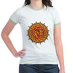 Celtic Knotwork Sun Women's Ringer T-shirt