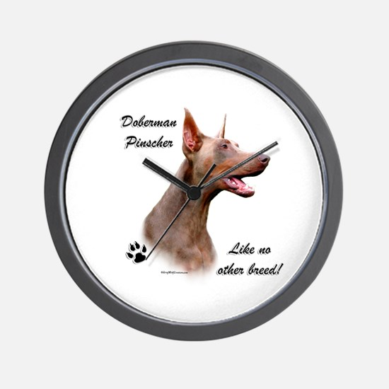 Dobie Breed Wall Clock