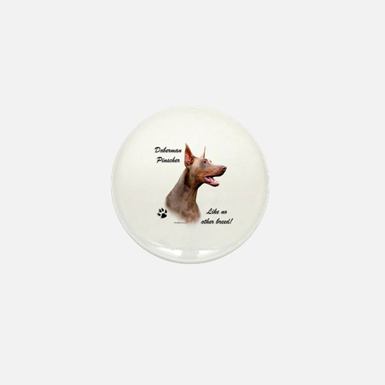 Dobie Breed Mini Button