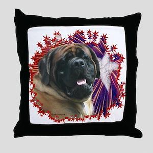 Mastiff Patriot 15 Throw Pillow