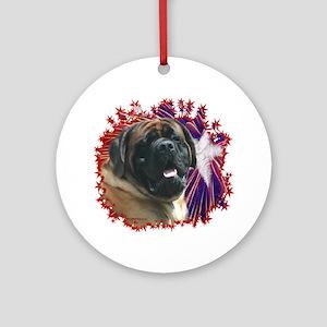 Mastiff Patriot 15 Ornament (Round)