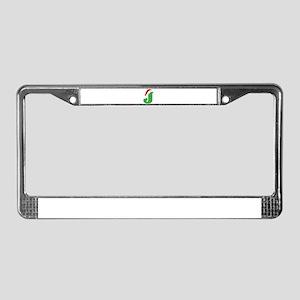 Christmas Monogram Letter J License Plate Frame