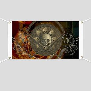 Awesome, creepy skulls, vintage design Banner