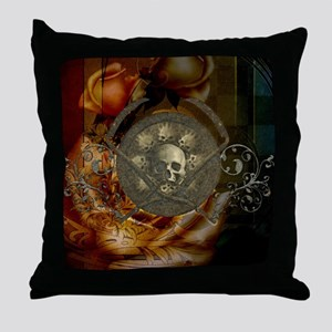 Awesome, creepy skulls, vintage design Throw Pillo