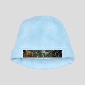 Awesome, creepy skulls, vintage design Baby Hat