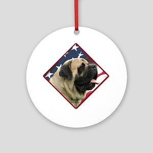 Mastiff Flag2 Ornament (Round)