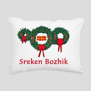 Macedonia Christmas 2 Rectangular Canvas Pillow