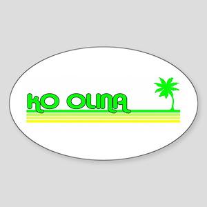Ko Olina, Hawaii Oval Sticker