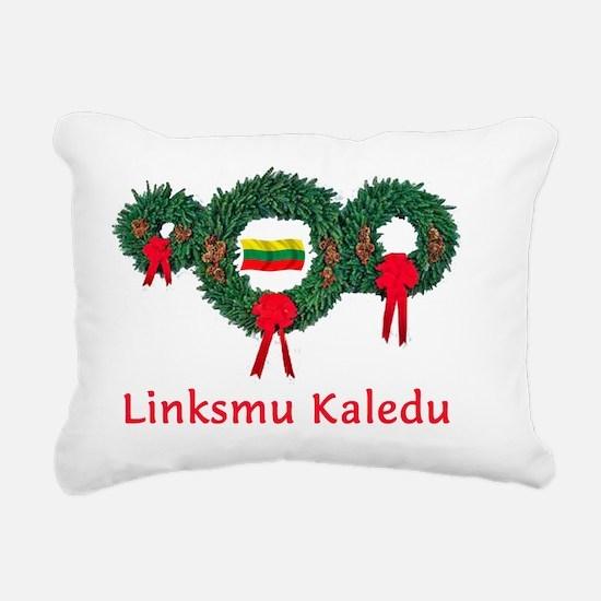 Lithuania Christmas 2 Rectangular Canvas Pillow