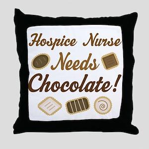 Hospice Nurse Chocolate Gift Throw Pillow