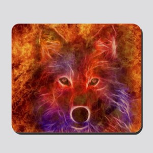 Fire Wolf Mousepad