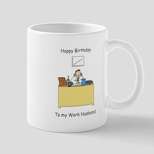 Work Husband Happy Birthday Mugs