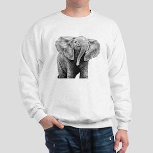 Baby African Elephant Queen Duvet Sweatshirt