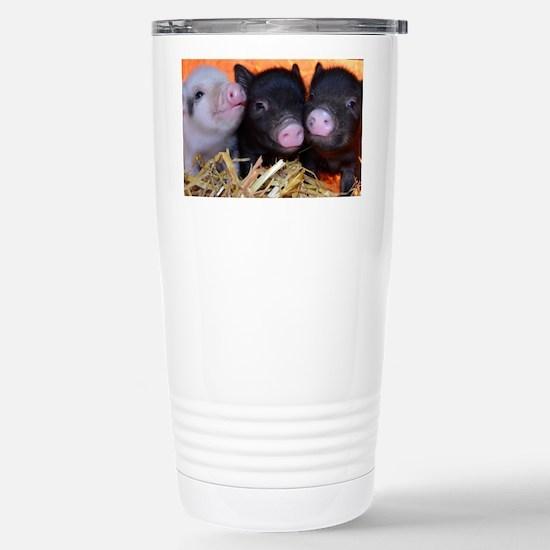 3 little micro pigs Stainless Steel Travel Mug