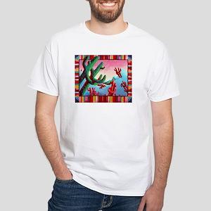 'Dancing Saguaros' White T-Shirt