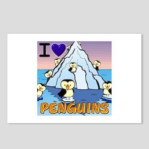 I Love Penguins! Postcards (Package of 8)