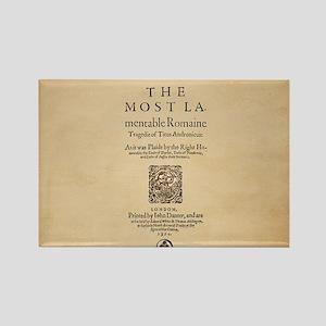 Folio-TitusAndronicus Rectangle Magnet