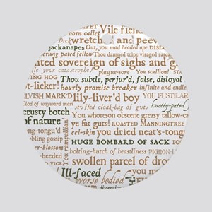 Shakespeare Insults Round Ornament
