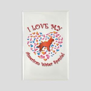 Love Spaniel Rectangle Magnet