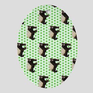 Honey Badger Oval Ornament