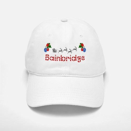 Bainbridge, Christmas Baseball Baseball Cap