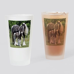 Champion Gypsy mare and colt Drinking Glass