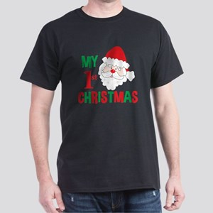 My 1st Christmas Santa Claus Dark T-Shirt