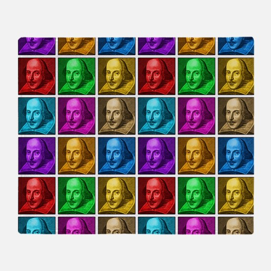 Pop Art Shakespeare Throw Blanket