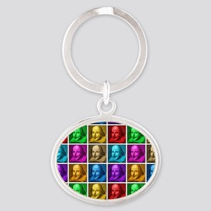 Pop Art Shakespeare Oval Keychain