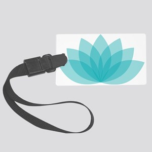 Lotus Blossom Large Luggage Tag