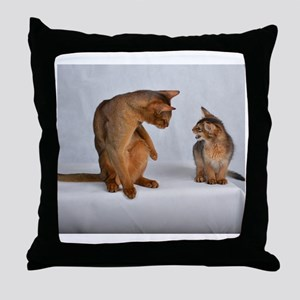 aby and somali Throw Pillow