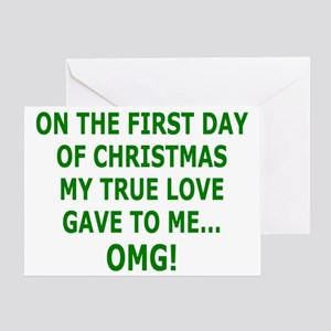 Christmas Funny Innuendo Greeting Card