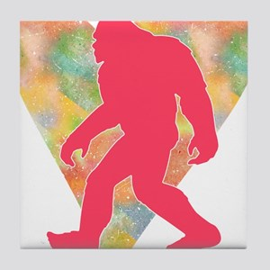 Bigfoot Heart Tile Coaster