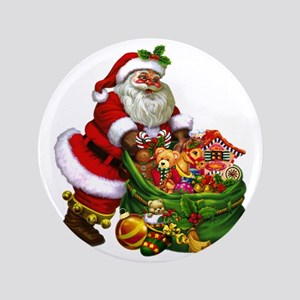 "Santa Claus! 3.5"" Button"