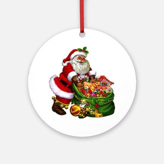 Santa Claus! Round Ornament