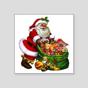 "Santa Claus! Square Sticker 3"" x 3"""