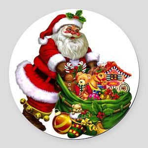 Santa Claus! Round Car Magnet